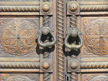 Doors of Alexander Nevski Cathedral in Sofia, Bulgaria