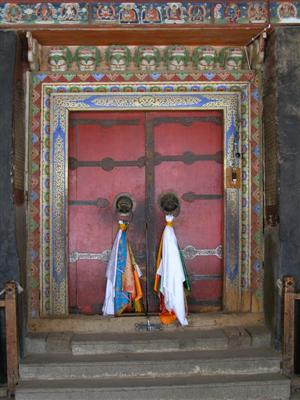 Xiahe, China - Labrang Monastery Door